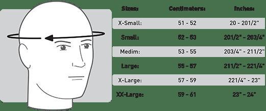 Cookie Helmet Sizing Chart
